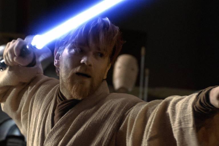 """Ewan McGregor como o personagem Obi-Wan Kenobi no filme """"Star Wars - Episódio 3: A Vingança dos Sith"""""""