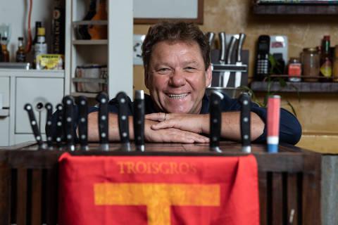 Rio de Janeiro, Rj, BRASIL. 28/11/2018; Retrato do Chefe Claude Troisgros, ele lança livro novo biografia e receitas.    ( Foto: Ricardo Borges/Folhapress)