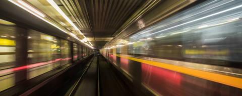 SAO PAULO - SP - 20.01.2018 - ESPECIAL MOBILIDADE - Linha Amarela do metro de São Paulo, sentido Butanta. Foto para o caderno especial sobre mobilidade urbana. Foto: KEINY ANDRADE/FOLHAPRESS