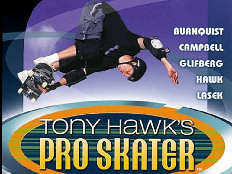 Capa de jogo de videogame licenciado de Tony Hawk