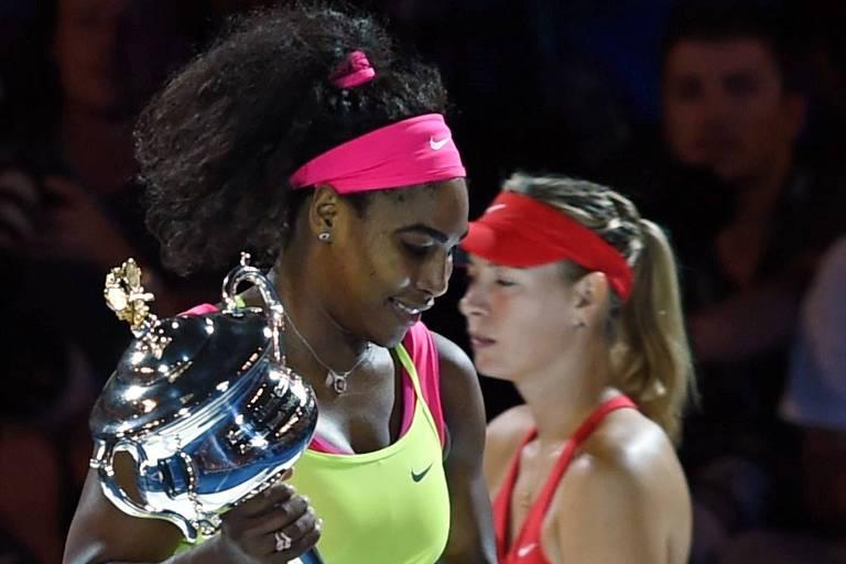 Serena tenta ampliar domínio sobre Sharapova em duelo inédito