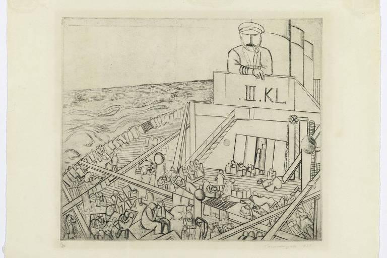 """Obra """"III Classe e Marinheiro"""", de Lasar Segall"""