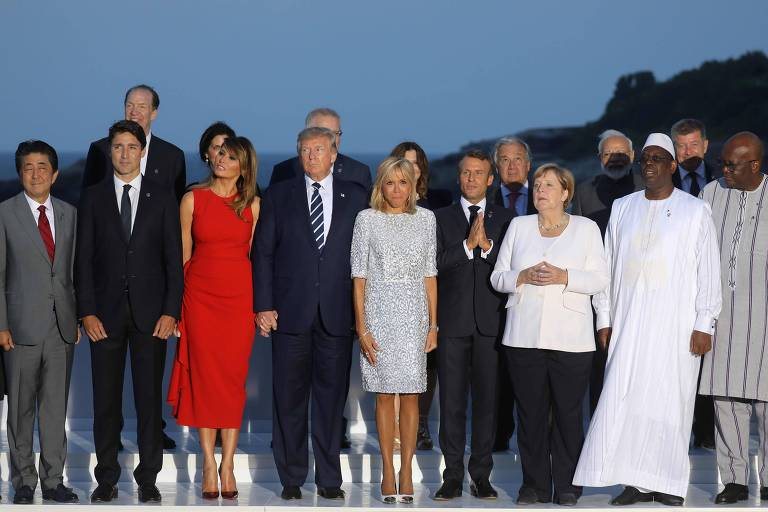 Líderes do G7, que se reuniram em Biarritz, na França, em agosto passado
