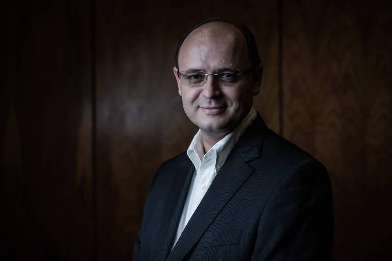 Secretário de educação de São Paulo, Rossieli Soares Silva, na secretaria estadual de Educação