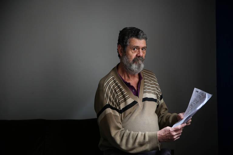 O aposentado Mario Lucio Nogueira espera desde 2014 pagamento de precatório devido a seu pai