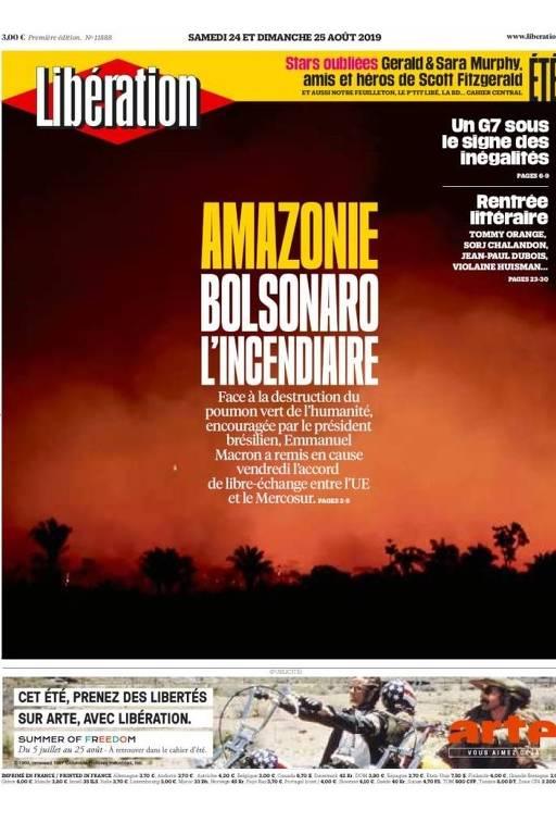 Repercussão das queimadas na Amazônia