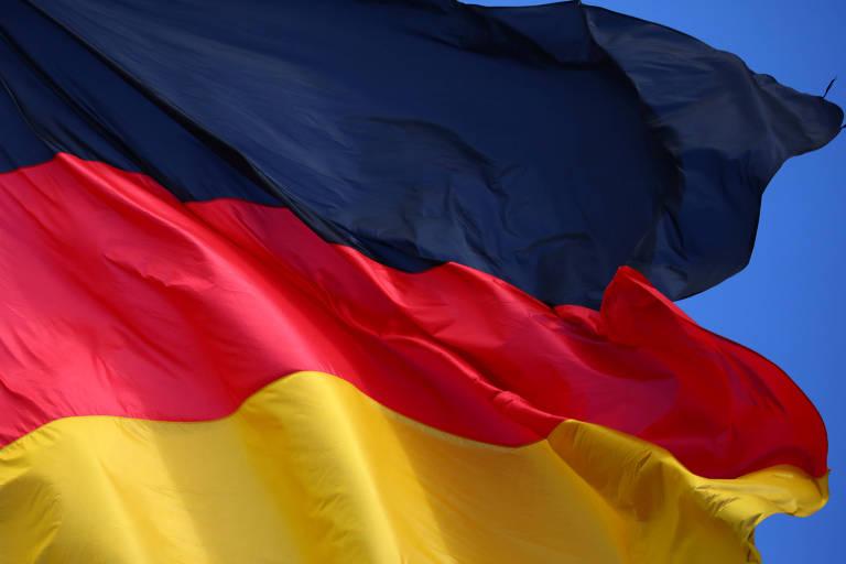 Bandeira alemã em Berlim