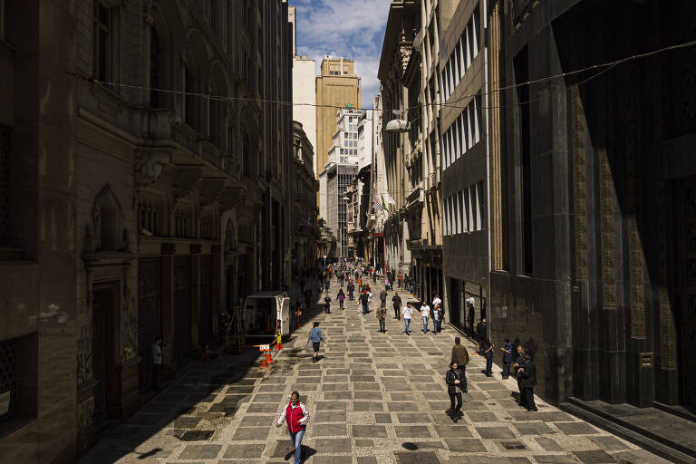 Calçadões do centro histórico de SP