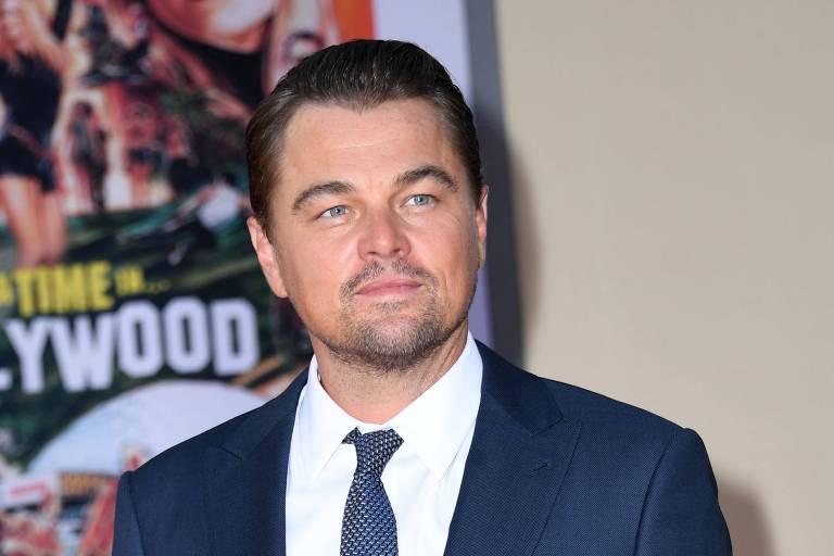 """O ator Leonardo DiCaprio na estreia de """"Once Upon a Time... in Hollywood"""""""