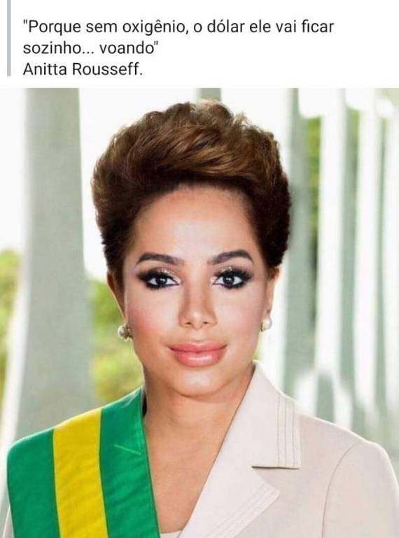 Anitta vira Anitta Rousseff na internet