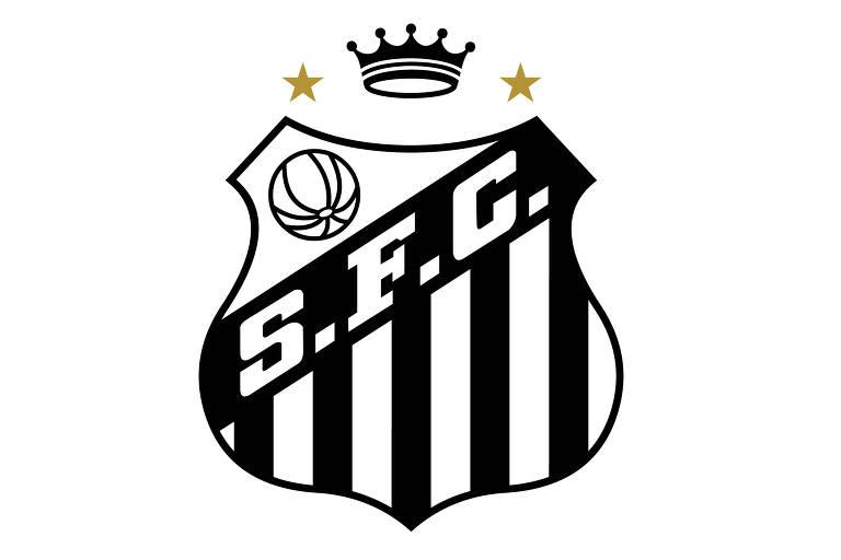 Projeto de novo escudo do Santos, com uma coroa