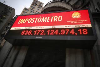 Impostômetro da ACSP (Associação Comercial de São Paulo) ultrapassou os R$ 636 bilhões
