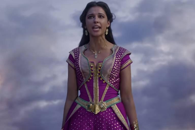 """Jasmine em cena do filme """"Aladdin"""""""