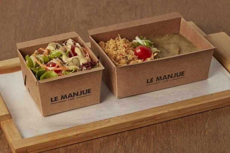 Marmitinhas servidas no Le Manjue Café