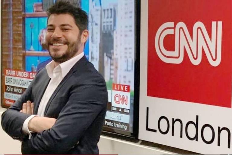 Evaristo Costa e William Waack na CNN Brasil