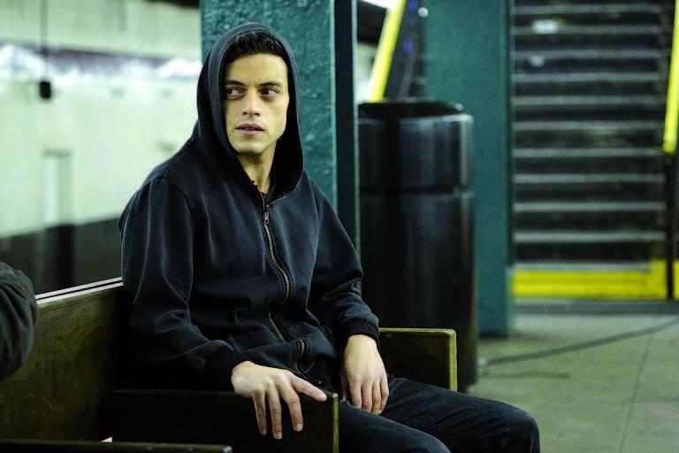 """Rami Malek em cena de """"Mr. Robot"""""""