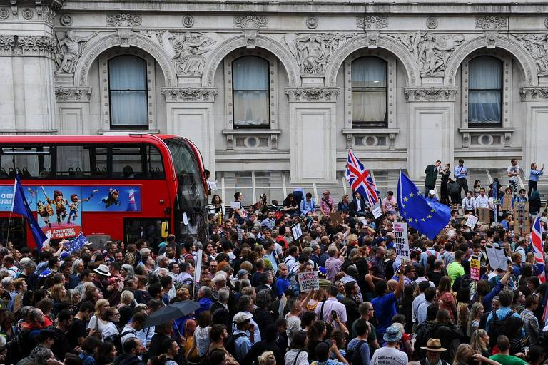 Protestos contra Boris Johnson