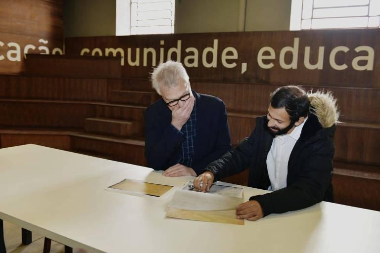Pedro Bial no Museu do Imigrante
