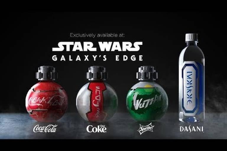 Garrafas de Star Wars vendidas na Disney Orlando