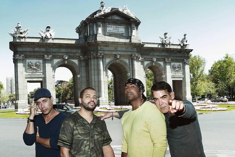 Projota grava clipe com grupo de hip hop cubano Orishas em Madri