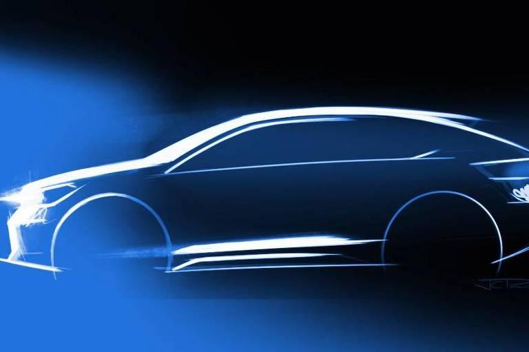 Esboço do novo carro da Volkswagen
