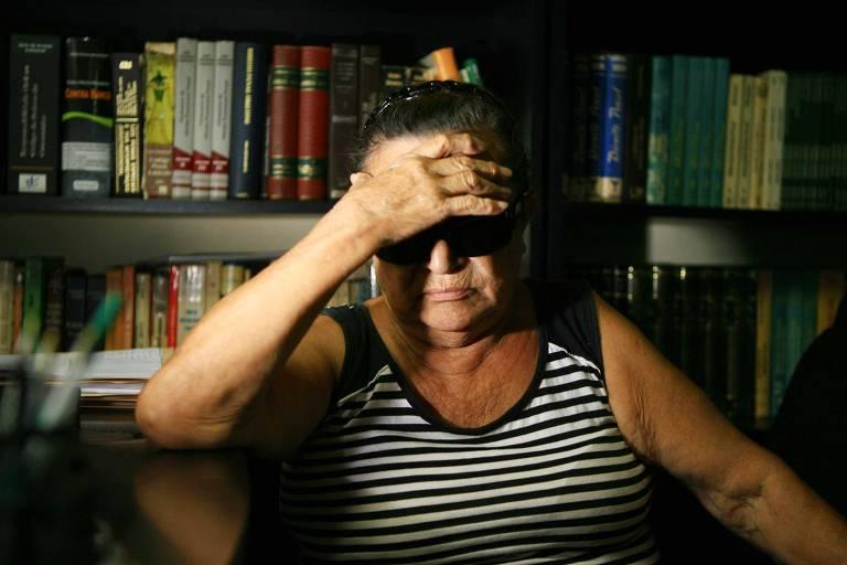 Zenith Artigas, mãe de Selma Heloísa Artigas, morta em 1998 após ser arrastada por carro de empresário, em foto de 2012