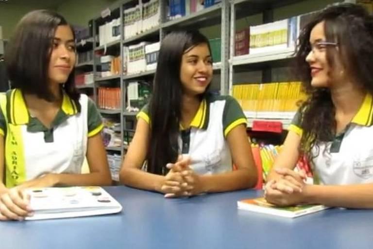 O projeto Células Motivadoras é coordenado pelas estudantes Joana, Maria Alicy e Liliane