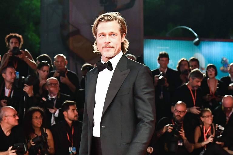"""O ator Brad Pitt em exibição de """"Ad Astra"""" no 76º Festival de Filmes em Veneza"""