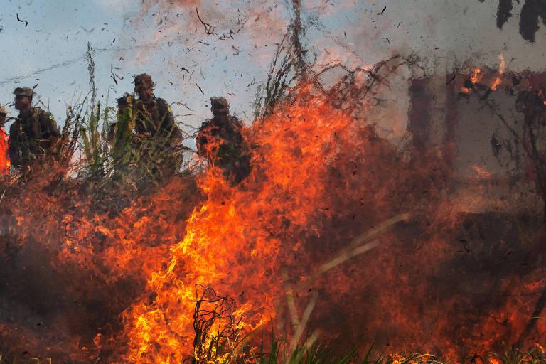 Operação do Exército em combate aos incêndios na Amazônia em agosto de 2019, após decreto do presidente Jair Bolsonaro