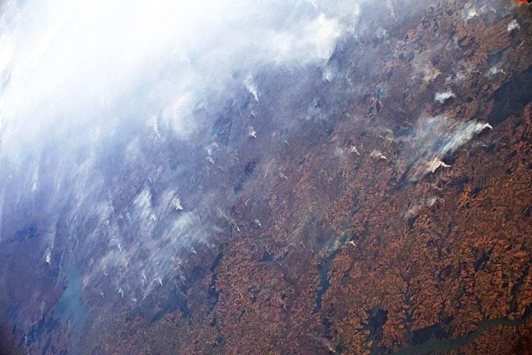 Astronauta italiano Luca Parmitano registrou a fumaça das queimadas na Amazônia nesta semana