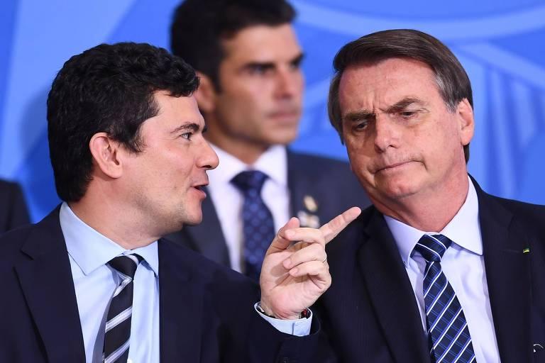 O presidente Jair Bolsonaro (PSL), que disse já ter conversado com o ministro Sergio Moro (Justiça) sobre possíveis mudanças na Polícia Federal