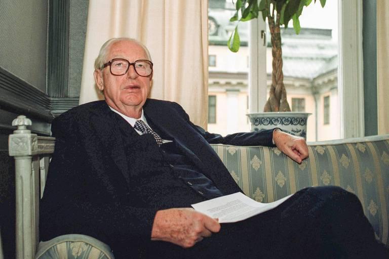 O empresário sueco Hans Rausing