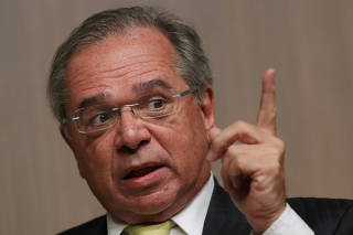 FILE PHOTO: Brazil's Economy Minister Paulo Guedes is seen during a BTG Pactual event for its clients and investors in Sao Paulo