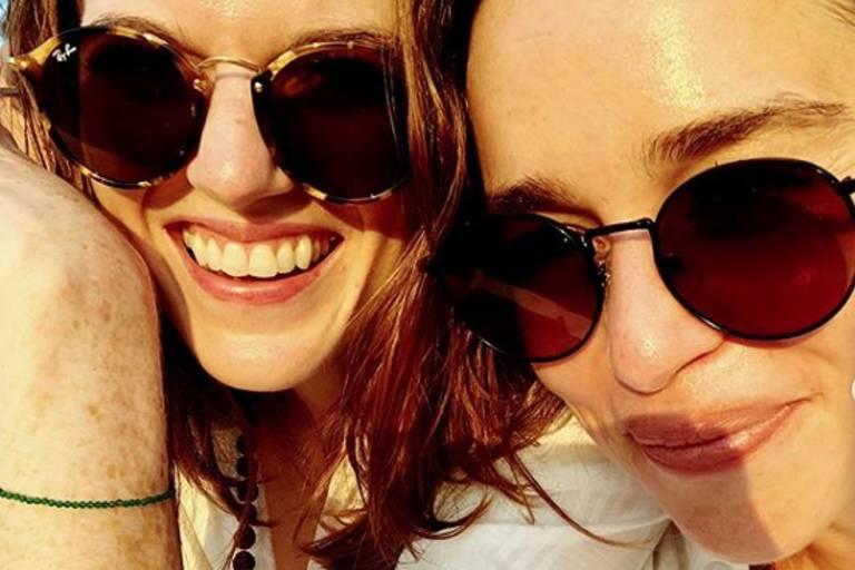 """Emilia Clarke e Rose Leslie, de """"Game of Thrones"""""""