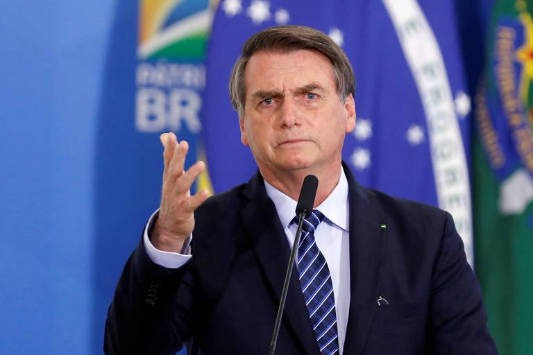 O presidente Jair Bolsonaro no Palácio do Planalto