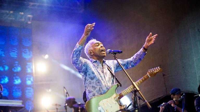 Gilberto Gil em show de Duda Beat no festival Sarará 2019, na esplanada do Mineirão 2019, em Belo Horizonte