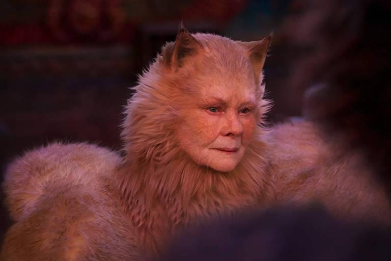 Judi Dench em cena do trailer de 'Cats'