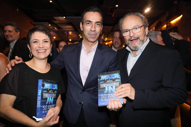 Sandra Annenberg, Cesar Tralli e Ernesto Paglia