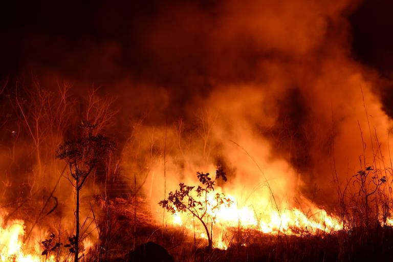 Focos de incêndio ameaçam aldeia em Mato Grosso