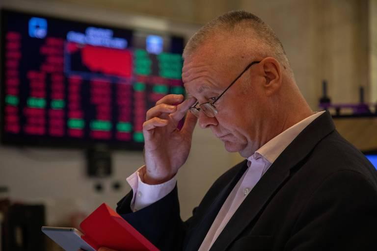 Operador na Bolsa de Nova York
