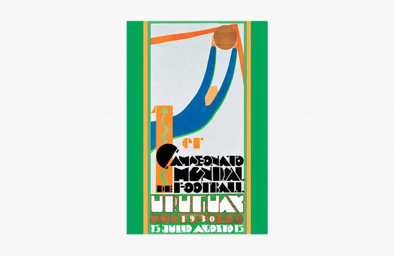 Logotipo da Copa de 1930, no Uruguai, teve o país mandante como o primeiro campeão do mundo