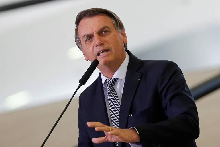 Presidente Jair Bolsonaro faz discurso no Planalto na terça (3)