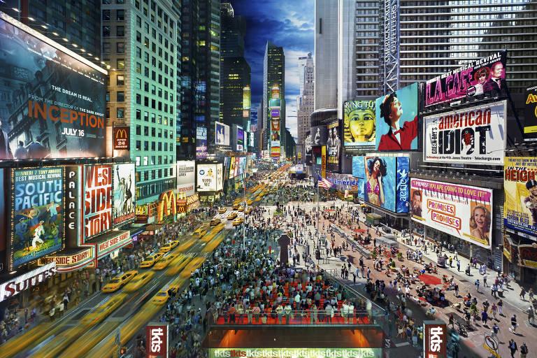 Times Square, em Nova York, fotografada em 2010