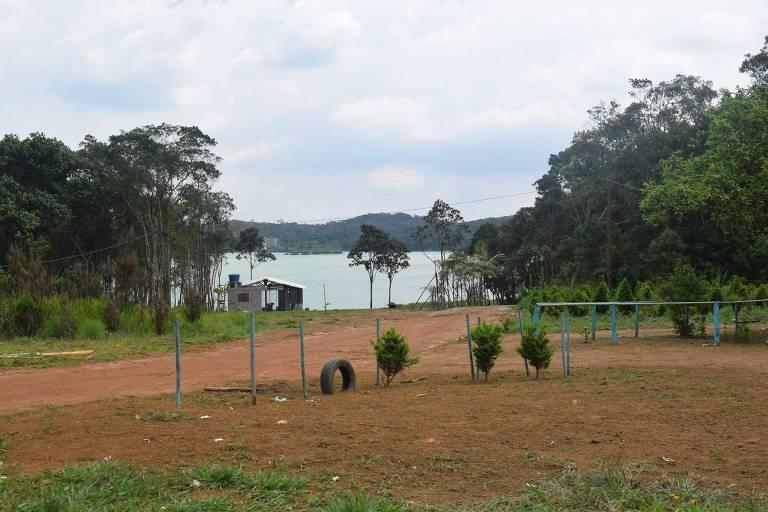 Área próxima à represa na terra indígena Tenondé Porã