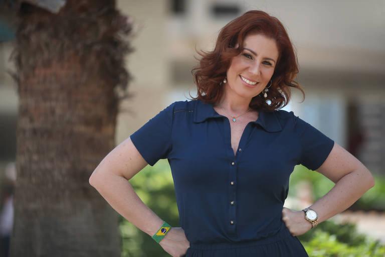 A deputada federal Carla Zambelli (PSL), que ganhou notoriedade pelo ativismo em favor do impeachment de Dilma Rousseff