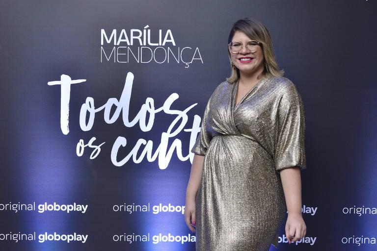 """Marília Mendonça no laçamento da série documental de sua megaturnê """"Todos os Cantos"""""""