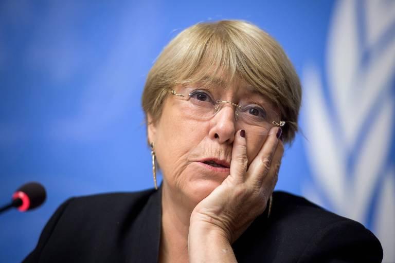Michelle Bachelet em Genebra na quarta-feira (4)