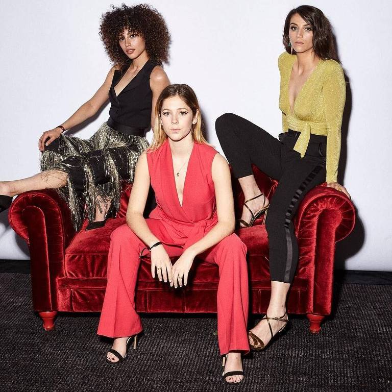 Mina El Hammani, Georgina Amorós e Claudia Salas, todas da 2ª temporada de 'Elite'