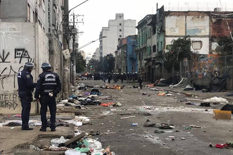 Guardas civis na região da rua Helvétia (Campos Elíseos)