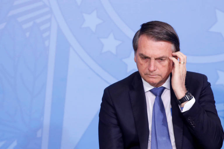O presidente Jair Bolsonaro (PSL), que pediu um voto de confiança de seus apoiadores em relação à indicação de Augusto Aras para a PGR